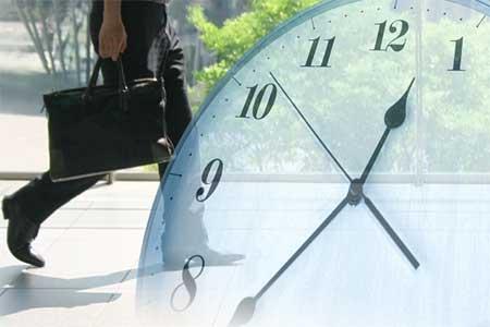 週5日制・8時間労働の男性