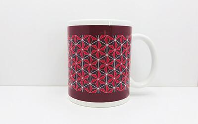 和柄 麻の葉 マグカップ