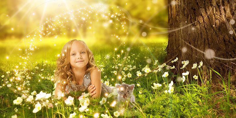 今を楽しむ女の子と輝かしい未来