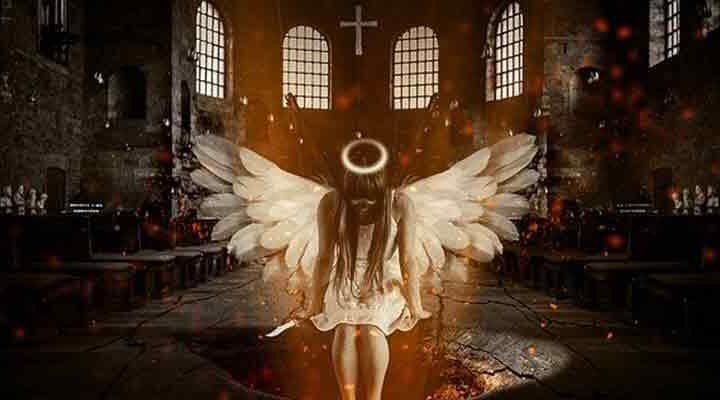 悪から我が身を正し、神へと近づく女性